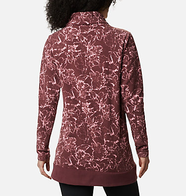 Women's Ali Peak™ Fleece Tunic Ali Peak™ Fleece Tunic | 472 | L, Malbec, Brush Floral Print, back
