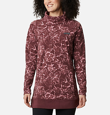 Women's Ali Peak™ Fleece Tunic Ali Peak™ Fleece Tunic | 472 | L, Malbec, Brush Floral Print, front