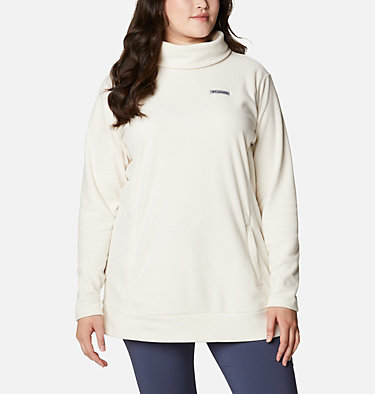 Women's Ali Peak™ Fleece Tunic - Plus Size Ali Peak™ Fleece Tunic | 010 | 1X, Chalk, front