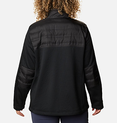 Women's Northern Canyon™ Hybrid Full Zip - Plus Size Northern Canyon™ Hybrid FZ | 010 | 1X, Black, back