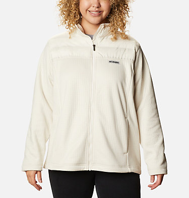 Women's Northern Canyon™ Hybrid Full Zip - Plus Size Northern Canyon™ Hybrid FZ | 010 | 1X, Chalk, front