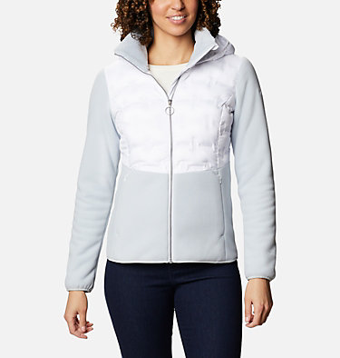 Women's Delta Ridge Hybrid Fleece Delta Ridge™ Hybrid Fleece FZ | 843 | L, Cirrus Grey, White, front