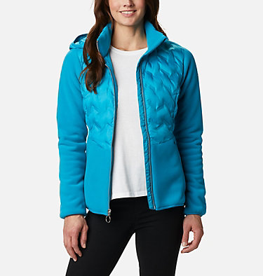 Women's Delta Ridge Hybrid Fleece Delta Ridge™ Hybrid Fleece FZ | 843 | L, Fjord Blue, front