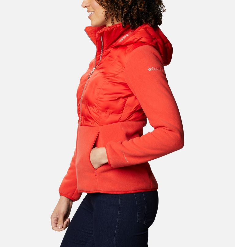 Delta Ridge™ Hybrid Fleece FZ | 843 | XL Women's Delta Ridge Hybrid Fleece, Bold Orange, a1