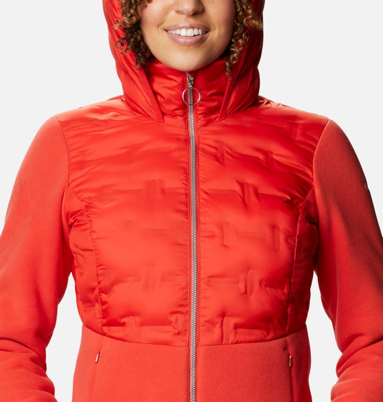 Delta Ridge™ Hybrid Fleece FZ | 843 | XL Women's Delta Ridge Hybrid Fleece, Bold Orange, a2