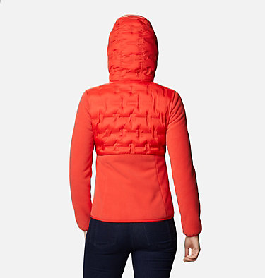 Women's Delta Ridge Hybrid Fleece Delta Ridge™ Hybrid Fleece FZ | 843 | L, Bold Orange, back
