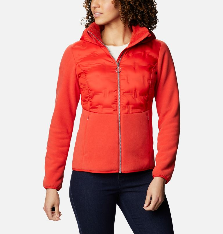 Delta Ridge™ Hybrid Fleece FZ | 843 | XL Women's Delta Ridge Hybrid Fleece, Bold Orange, front