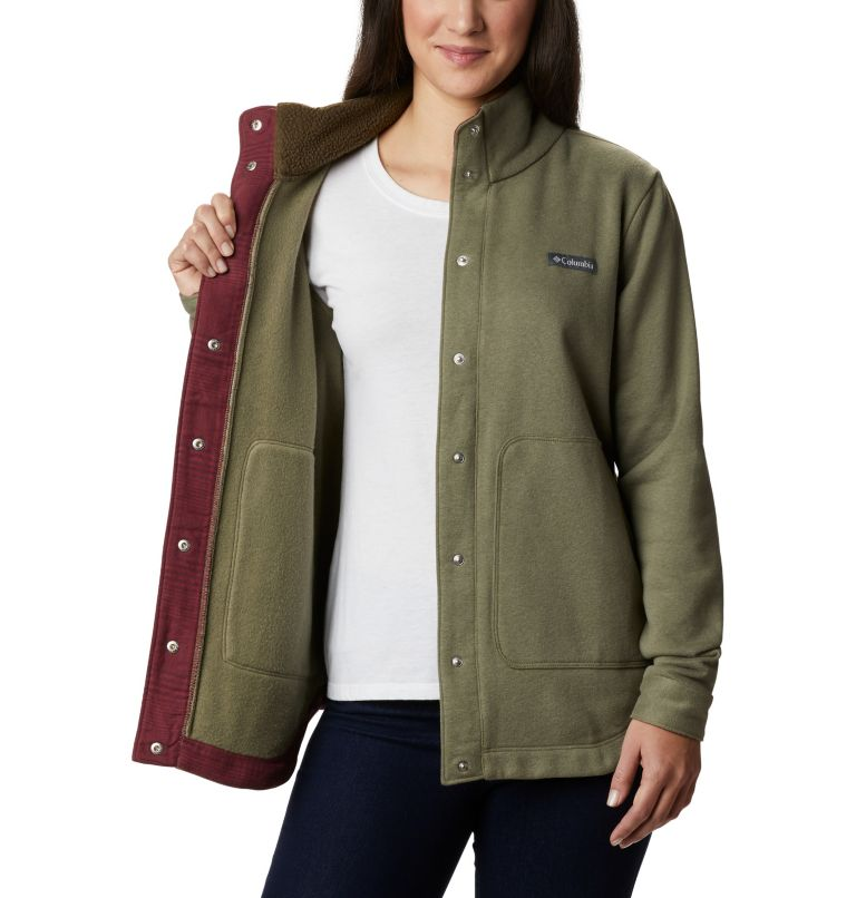 Hart Mountain™ Shirt Jac | 397 | L Women's Hart Mountain™ Shirt Jacket, Stone Green, a3
