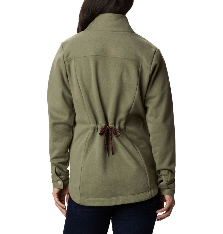 Hart Mountain™ Shirt Jac | 397 | L Women's Hart Mountain™ Shirt Jacket, Stone Green, back