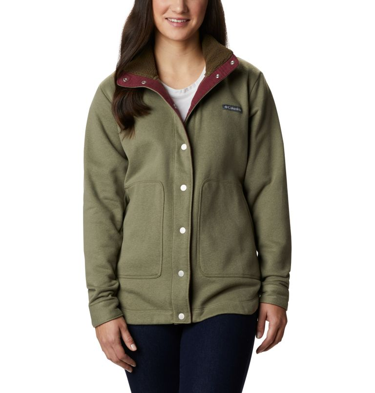 Hart Mountain™ Shirt Jac | 397 | L Women's Hart Mountain™ Shirt Jacket, Stone Green, front