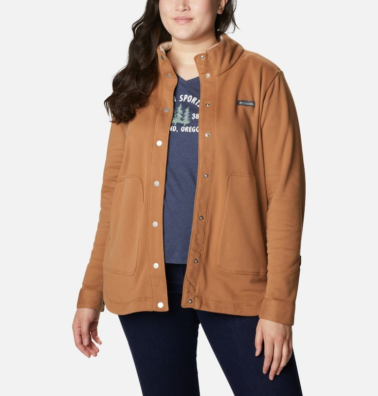 Women's Hart Mountain™ Shirt Jacket - Plus Size Women's Hart Mountain™ Shirt Jacket - Plus Size, front