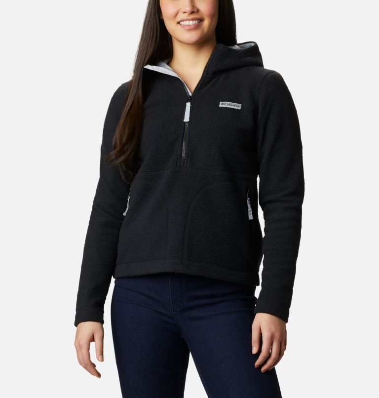 Northern Reach™ Sherpa Anorak | 010 | XL Anorak Sherpa Northern Reach™ da donna, Black, front
