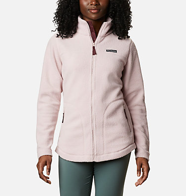 Women's Northern Reach™ Full Zip Sherpa Fleece Northern Reach™ Sherpa FZ | 618 | L, Mineral Pink, front
