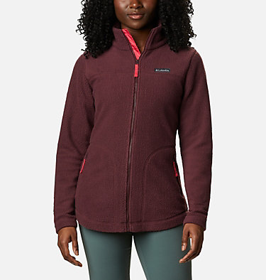 Women's Northern Reach™ Full Zip Sherpa Fleece Northern Reach™ Sherpa FZ | 010 | L, Malbec, front