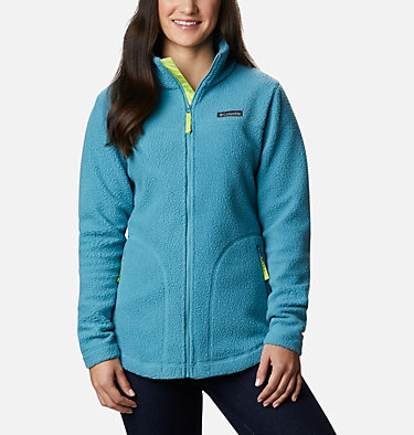 Women's Northern Reach Sherpa Fleece Northern Reach™ Sherpa FZ | 466 | L, Canyon Blue, front