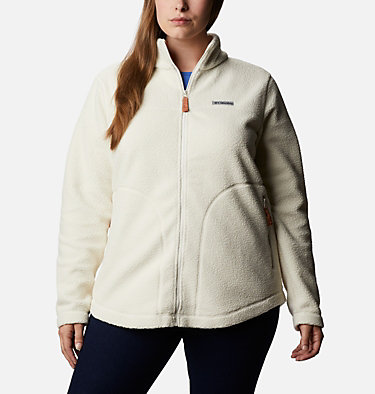 Women's Northern Reach™ Full Zip Sherpa Fleece - Plus Size Northern Reach™ Sherpa FZ | 010 | 1X, Chalk, front