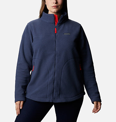 Women's Northern Reach™ Full Zip Sherpa Fleece - Plus Size Northern Reach™ Sherpa FZ | 010 | 1X, Nocturnal, front