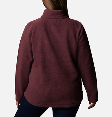 Women's Northern Reach™ Full Zip Sherpa Fleece - Plus Size Northern Reach™ Sherpa FZ | 010 | 1X, Malbec, back