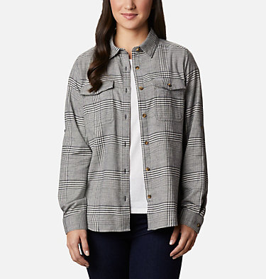 Women's Pine Street™ Stretch Flannel Pine Street™ Stretch Flannel | 430 | L, Chalk Glen Plaid, front