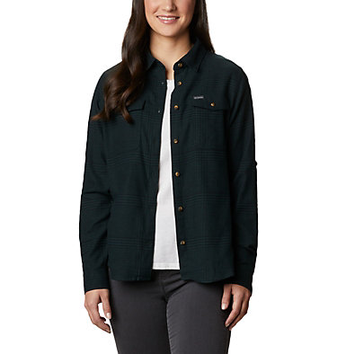 Women's Pine Street™ Stretch Flannel Pine Street™ Stretch Flannel | 430 | L, Spruce Glen Plaid, front