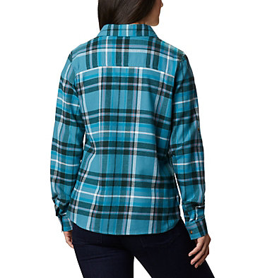 Women's Pine Street™ Stretch Flannel Pine Street™ Stretch Flannel | 430 | L, Canyon Blue Multi, back