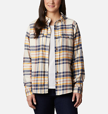 Women's Pine Street™ Stretch Flannel Pine Street™ Stretch Flannel | 430 | L, Nocturnal Multi, front