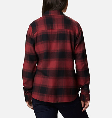 Women's Pine Street™ Stretch Flannel Pine Street™ Stretch Flannel | 430 | L, Marsala Red Buffalo Plaid, back