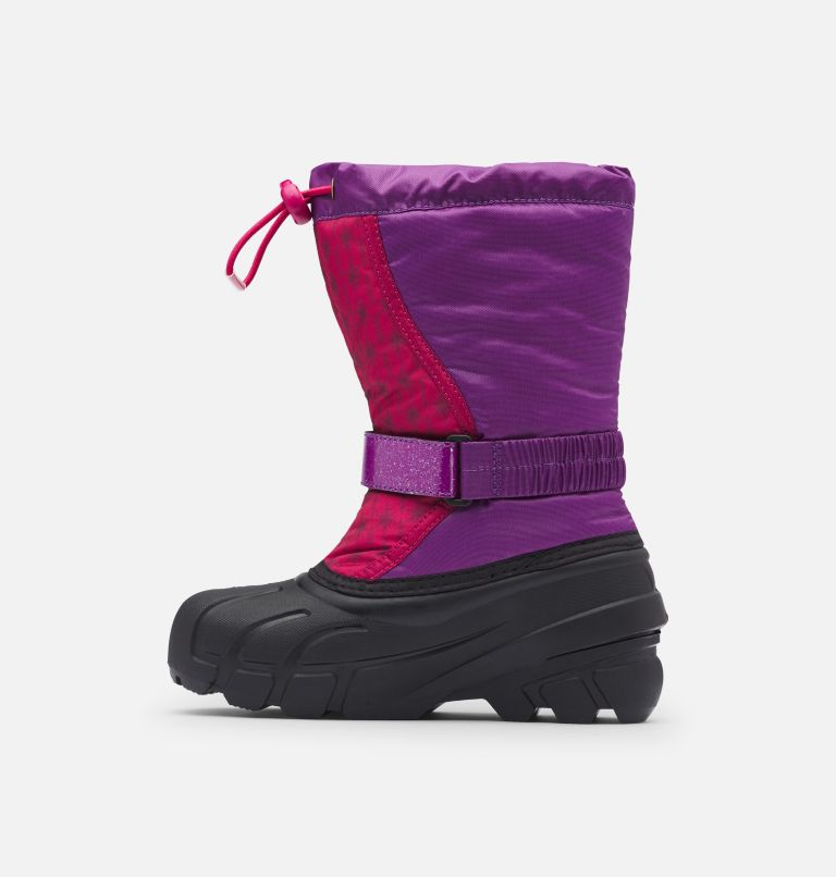 DISNEY X SOREL YOUTH FLURRY™ FROZEN ANNA | 594 | 4 Disney X Sorel Youth Flurry™ Frozen 2 Boot –Anna Edition, Wild Iris, medial
