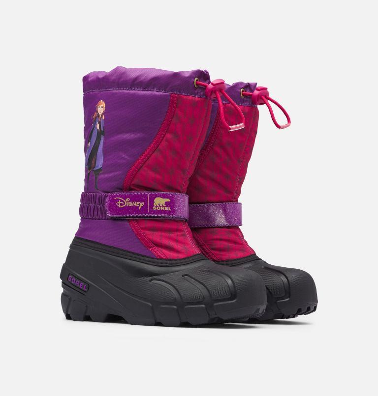 Disney X Sorel Children's Flurry™ Frozen 2 Boot –Anna Edition Disney X Sorel Children's Flurry™ Frozen 2 Boot –Anna Edition, 3/4 front