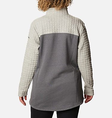 Women's Sunday Summit™ II Tunic - Plus Size Sunday Summit™ II Tunic | 671 | 1X, Grey Ash Heather, back