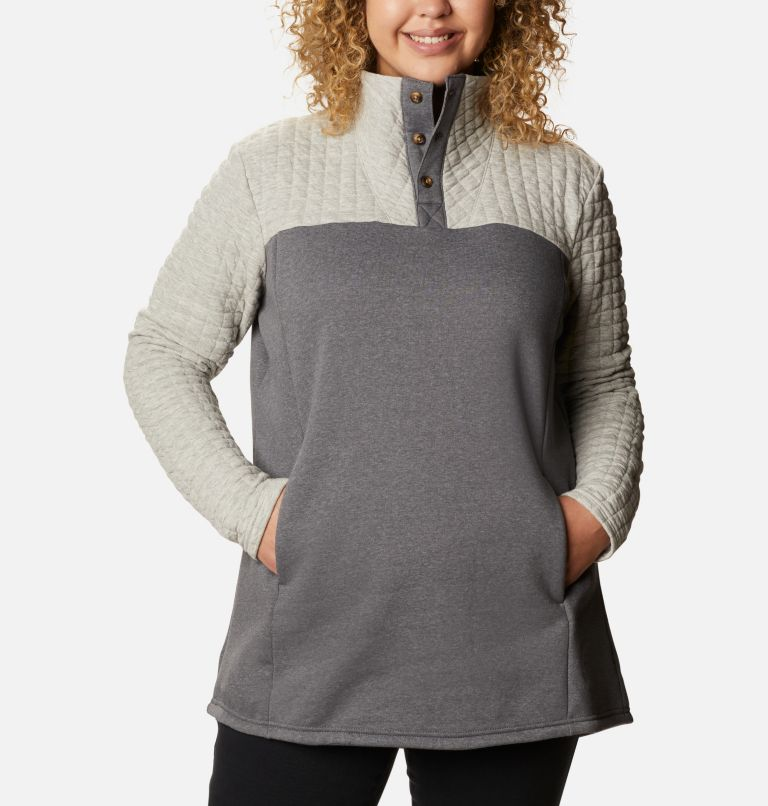 Sunday Summit™ II Tunic | 021 | 1X Tunique Sunday Summit™ II pour femme - Grandes tailles, Grey Ash Heather, front