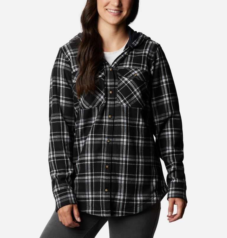 Women's Columbia City™ Hooded Long Sleeve Shirt Women's Columbia City™ Hooded Long Sleeve Shirt, front