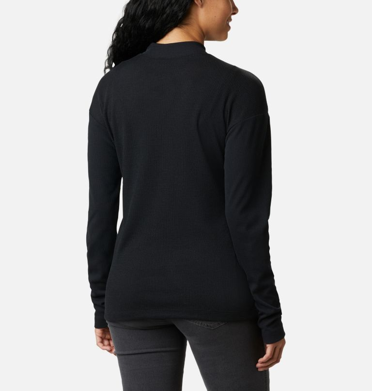 Pine Street™ LS Knit | 010 | S Women's Pine Street™ Long Sleeve Knit Shirt, Black, back