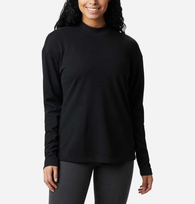 Pine Street™ LS Knit | 010 | S Women's Pine Street™ Long Sleeve Knit Shirt, Black, front