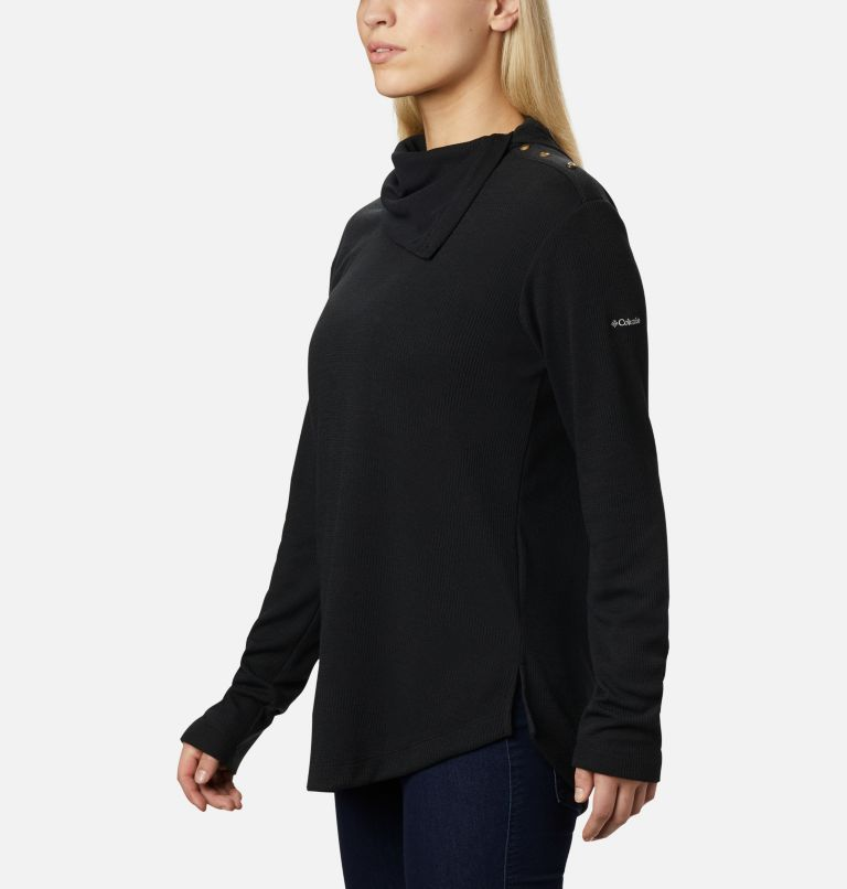 Pine Street™ Split Cowl Neck | 010 | S Women's Pine Street™ Split Cowl Neck Shirt, Black, a1
