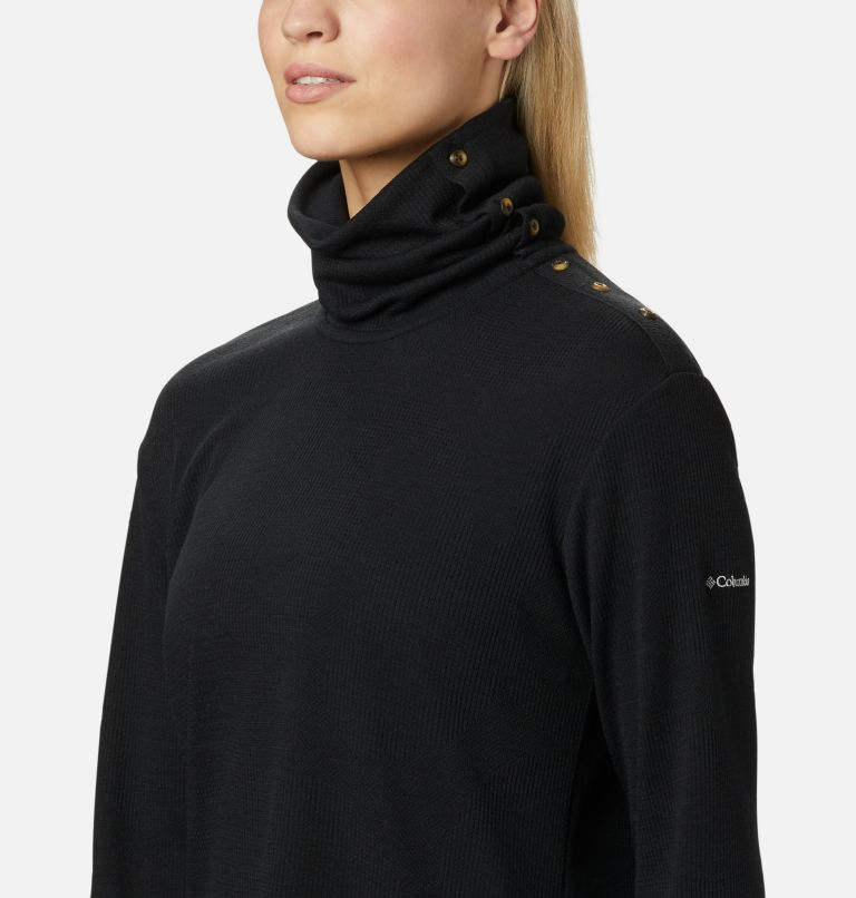 Pine Street™ Split Cowl Neck | 010 | S Women's Pine Street™ Split Cowl Neck Shirt, Black, a2