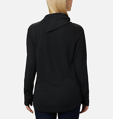 Women's Pine Street™ Split Cowl Neck Shirt Pine Street™ Split Cowl Neck | 485 | L, Black, back