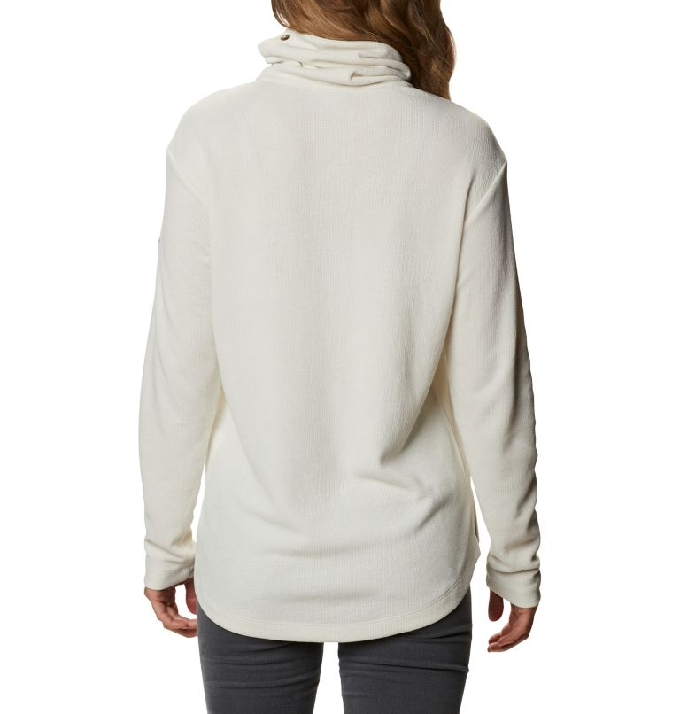 Pine Street™ Split Cowl Neck | 191 | XS Women's Pine Street™ Split Cowl Neck Shirt, Chalk, back