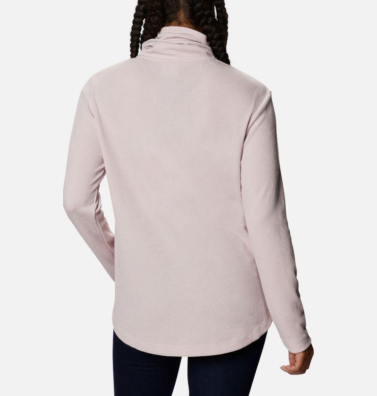Pine Street™ Split Cowl Neck | 618 | XS Women's Pine Street™ Split Cowl Neck Shirt, Mineral Pink, back