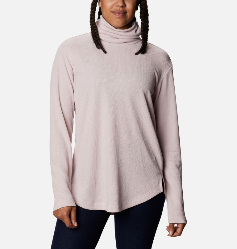 Pine Street™ Split Cowl Neck | 618 | XS Women's Pine Street™ Split Cowl Neck Shirt, Mineral Pink, front