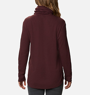 Women's Pine Street™ Split Cowl Neck Shirt Pine Street™ Split Cowl Neck | 485 | L, Malbec, back