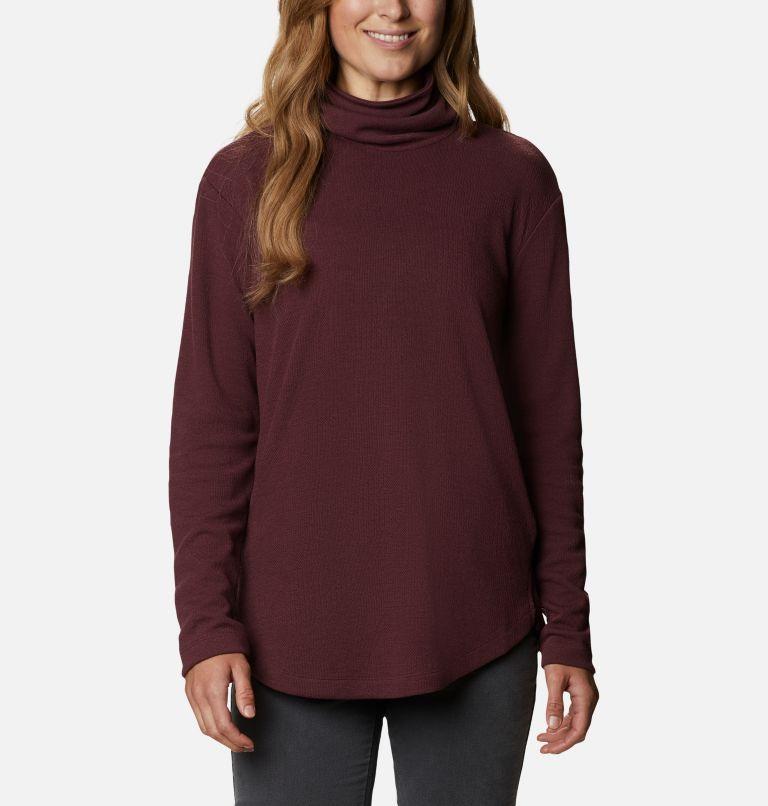 Pine Street™ Split Cowl Neck | 671 | XXL Women's Pine Street™ Split Cowl Neck Shirt, Malbec, front
