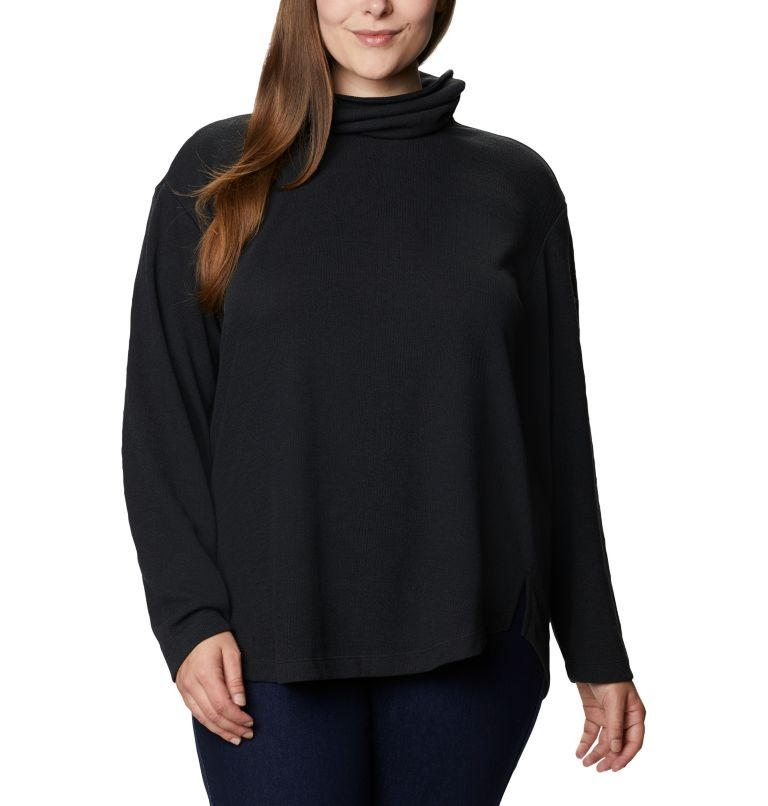 Women's Pine Street™ Split Cowl Neck Shirt - Plus Size Women's Pine Street™ Split Cowl Neck Shirt - Plus Size, front