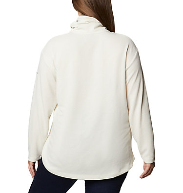 Women's Pine Street™ Split Cowl Neck Shirt - Plus Size Pine Street™ Split Cowl Neck | 485 | 1X, Chalk, back
