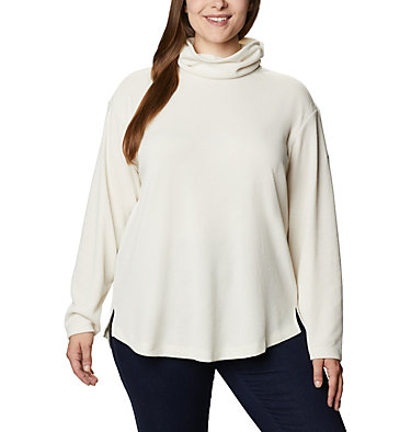 Women's Pine Street™ Split Cowl Neck Shirt - Plus Size Pine Street™ Split Cowl Neck | 485 | 1X, Chalk, front