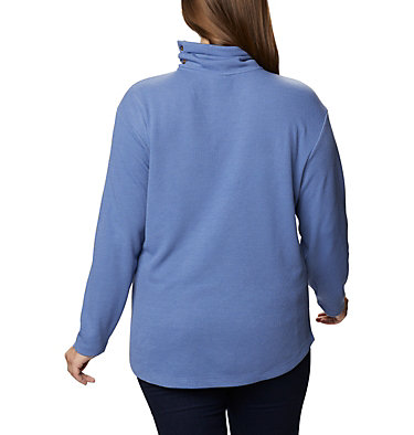 Women's Pine Street™ Split Cowl Neck Shirt - Plus Size Pine Street™ Split Cowl Neck | 485 | 1X, Velvet Cove, back