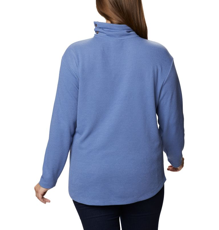 Women's Pine Street™ Split Cowl Neck Shirt - Plus Size Women's Pine Street™ Split Cowl Neck Shirt - Plus Size, back