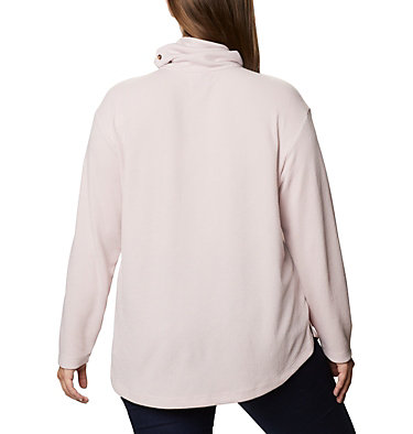 Women's Pine Street™ Split Cowl Neck Shirt - Plus Size Pine Street™ Split Cowl Neck | 485 | 1X, Mineral Pink, back