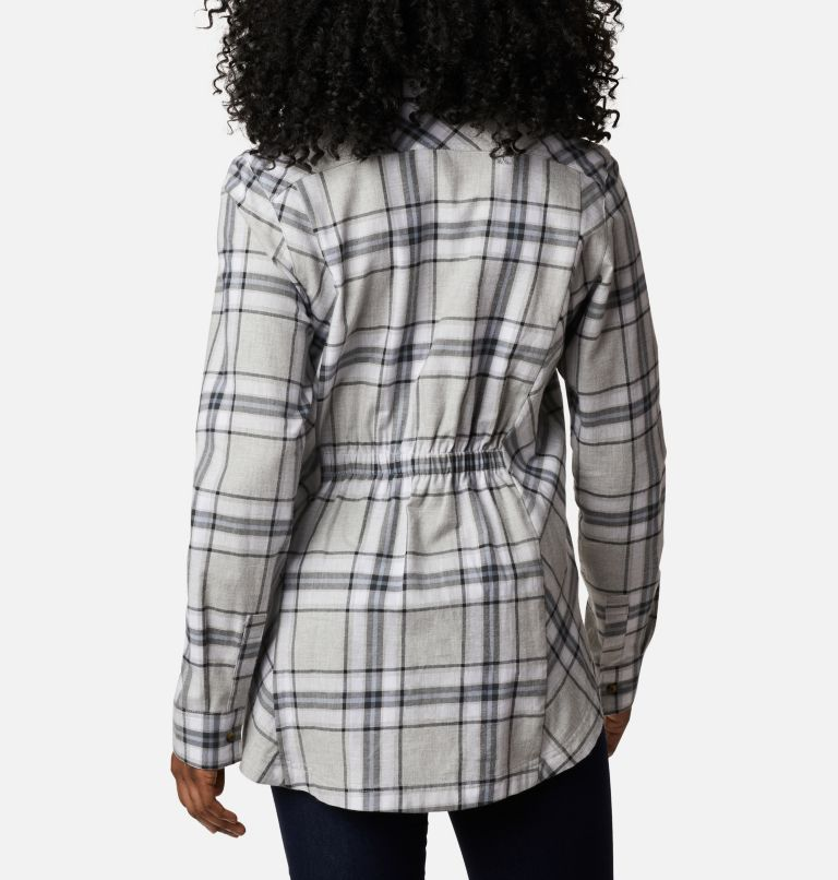Sunday Summit™ Plaid Tunic | 011 | XL Tunique à carreaux Sunday Summit™ pour femme, Shark Plaid, back