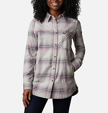 Women's Sunday Summit™ Plaid Tunic Sunday Summit™ Plaid Tunic | 011 | L, Winter Mauve Plaid, front